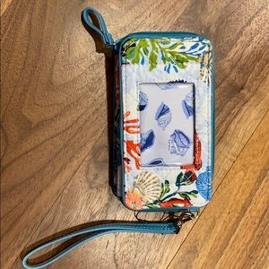 Vera Bradley RFID smartphone wristlet shore thing